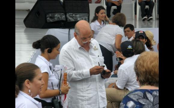 Raimundo Angulo en la Sociedad Portuaria.