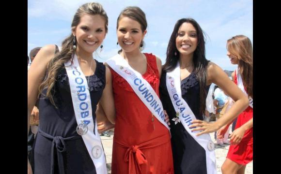 Las reinas de Córdoba, Cundinamarca y Guajira.