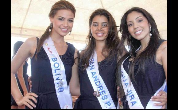 Ls reinas de Bolívar, San Andrés y Guajira.