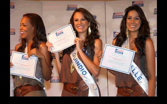 Ganadoras de becas: Chocó, Quindío y Valle.
