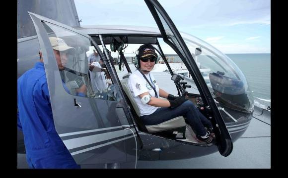 La Patrullera del Aire RCN es una de las mujeres más valientes del periodismo na