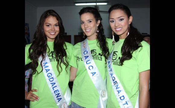 Las candidatas de: Magdalena, Cauca y Cartagena.