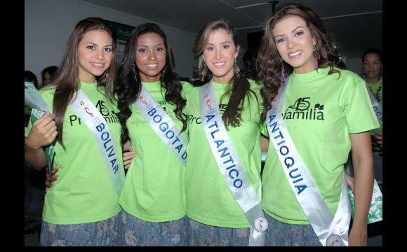 Las candidatas de: Bolívar, Bogoá, Atlántico y Antioquia.