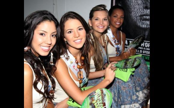 Vanessa Durán, Guajira; Ana Santa, Cundinamarca; Marcia Jones, Córdoba y Astrid