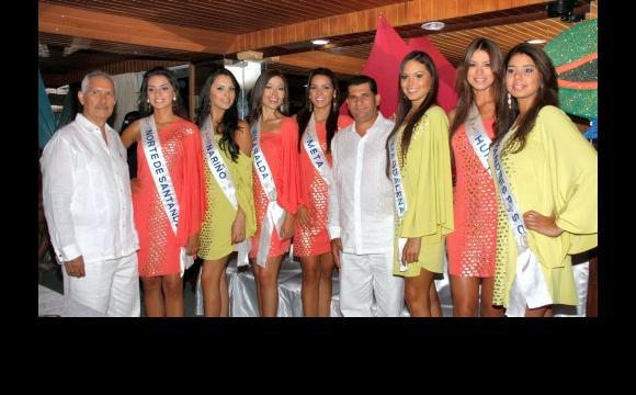 Las candidatas a Señorita Colombia departieron con los socios del Club.