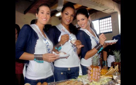 Reinas de: Atlántico, Cochó y Cundinamarca.