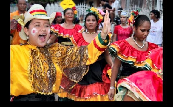 Desfile en Las Gaviotas.