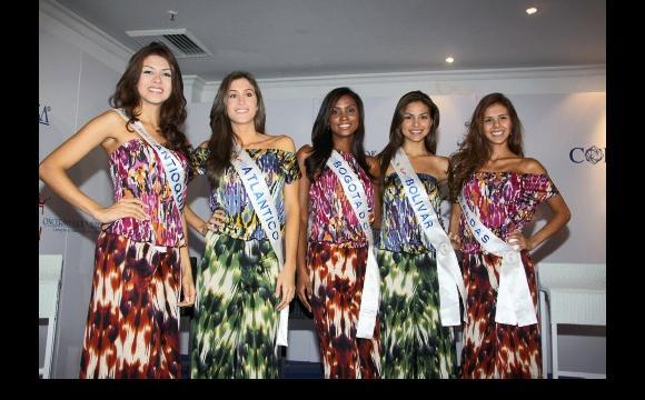 Reinas ante jurado calificador de Señorita Colombia