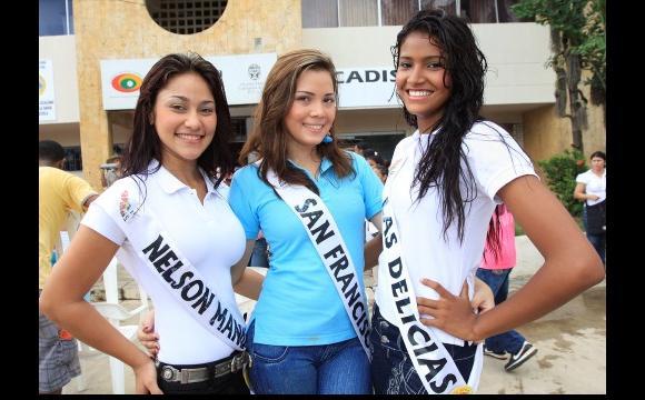 Reinas de: Nelsón Mandela, San Francisco y Las Delicias.