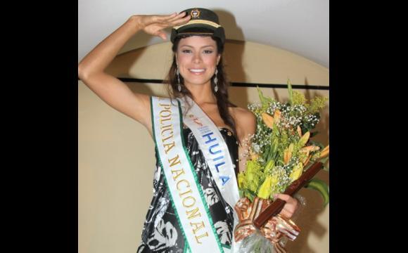 Natalia Valenzuela Cutiva, candidata del Huila, Reina de la Policía