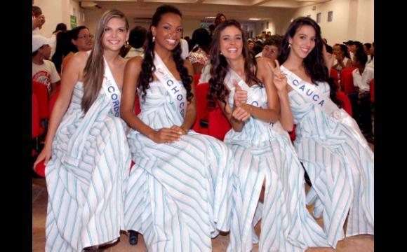 Las candidtas a Señorita Colombia asisten a la carrera 10K.