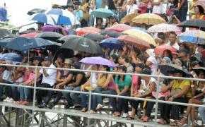 Los paraguas, al orden del día.