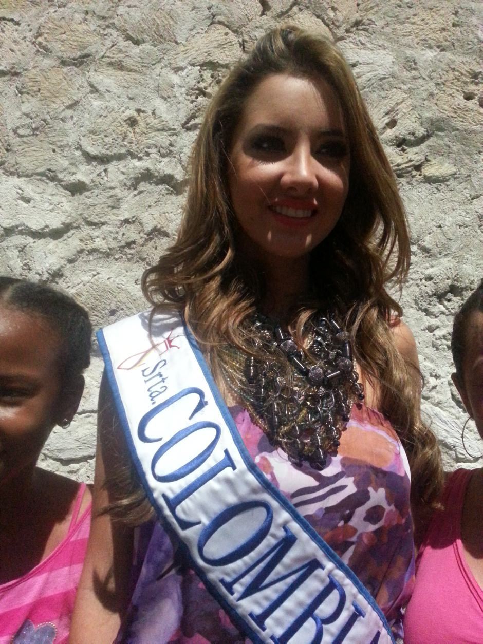 La Señorita Colombia Daniella Álvarez.