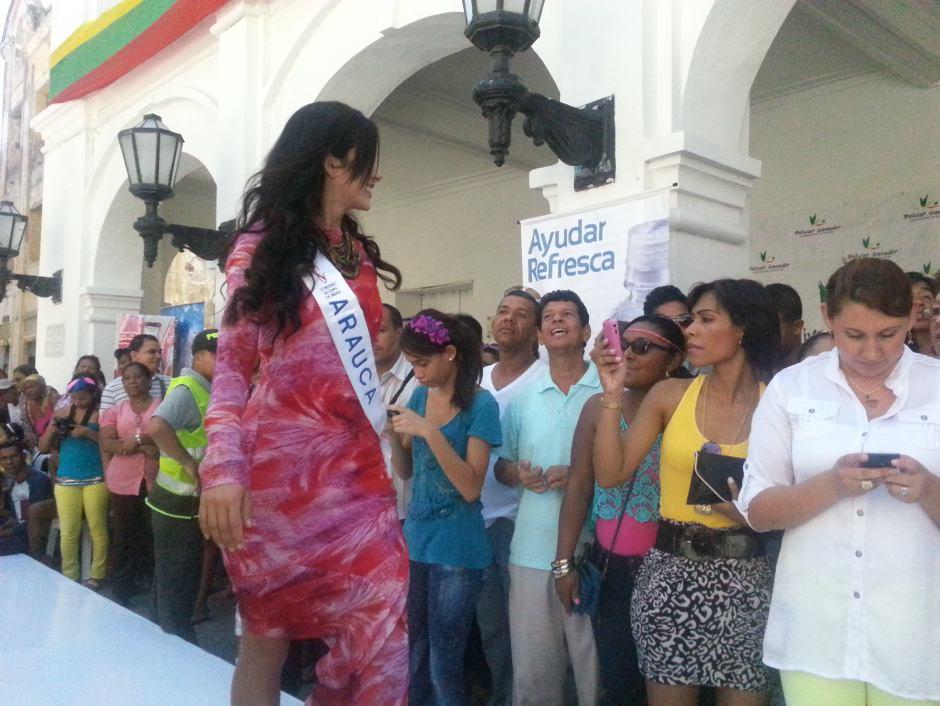 La Srta. Antioquia, Laura  Trujillo Montoya. aspirantes a señorita colombia en c