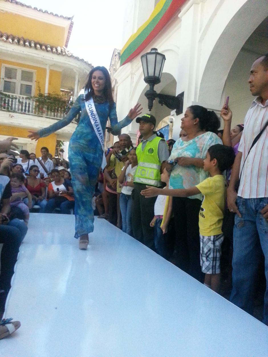La Srta. Cundinamarca Stephanie aspirantes a señorita colombia en cartagena 2012