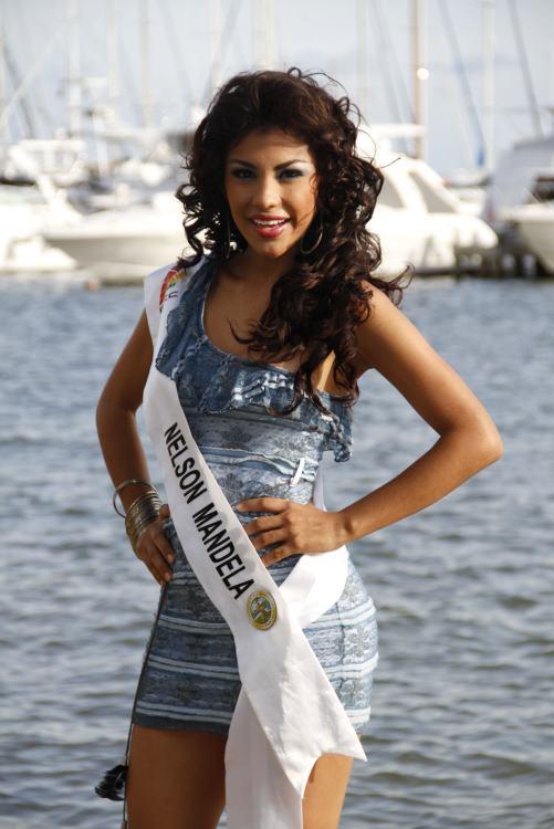 Daniela Fernanda Henao, representante de Nelson Mandela