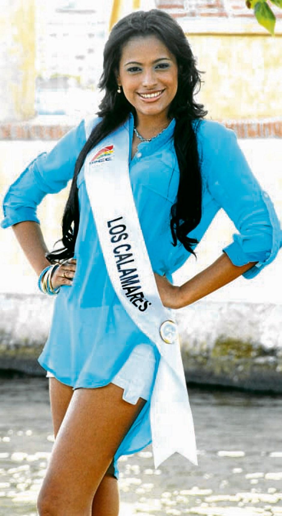 Wendy Almanza, representante del barrio Los Calamares.