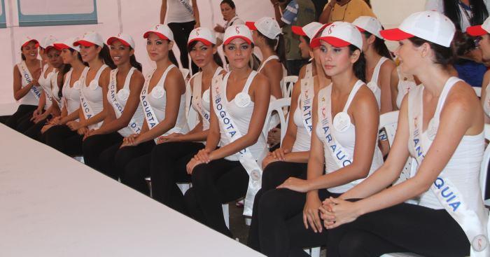 Candidatas a Señorita Colombia asistieron a la 10k