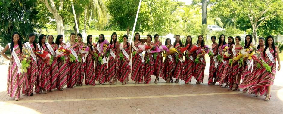 Candidatas al Reinado de la Independencia 2012.