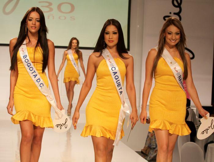 Señoritas Bogotá, Caquetá y Nariño.