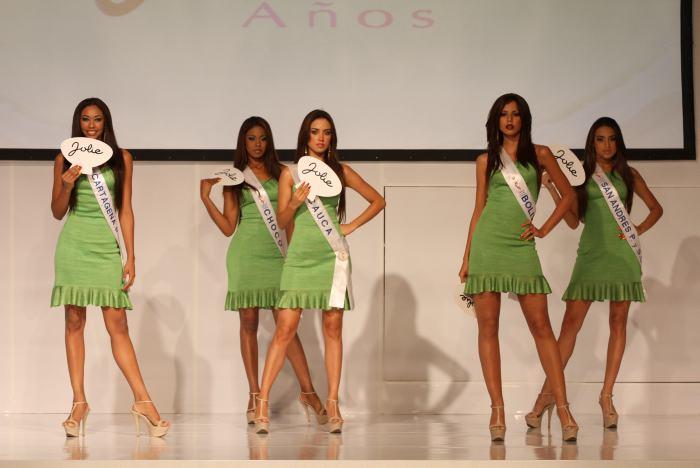 Señoritas Cartagena, Chocó, Arauca, Bolívar y San Andrés.
