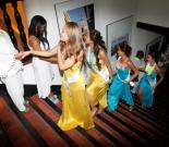 Las participantes del Concurso Nacional de Belleza terminaron una jornada académica con mucha alegría.