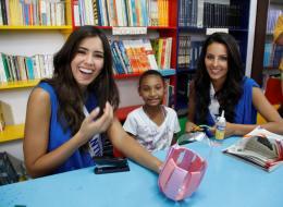 Paulina Vega, de Atlántico, y Paola Ruiz, de Arauca.