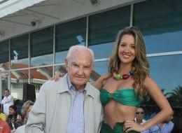 Alberto Araújo Merlano y la Señorita Colombia 2011, Daniella Álvarez.
