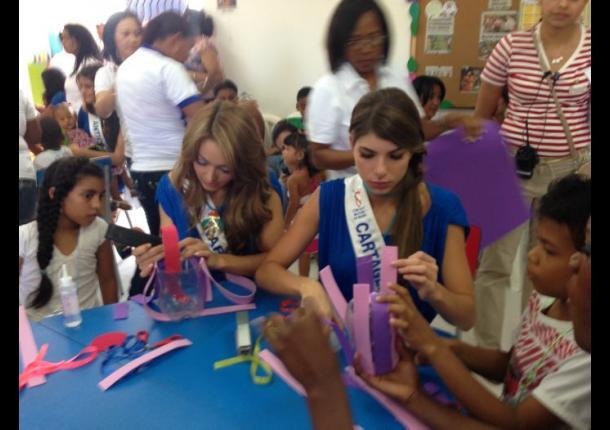 Reinas en Fundación Amigos de los Niños de la Agencia Children International