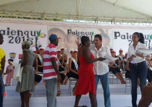 Candidatas a Señorita Colombia visitan Palenque.