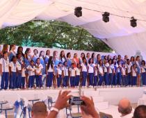 Reinas visitaron colegio Luis Carlos Galán