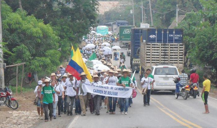Campesinos de Alta Montaña, a punto de otra caminata - El Universal - Colombia