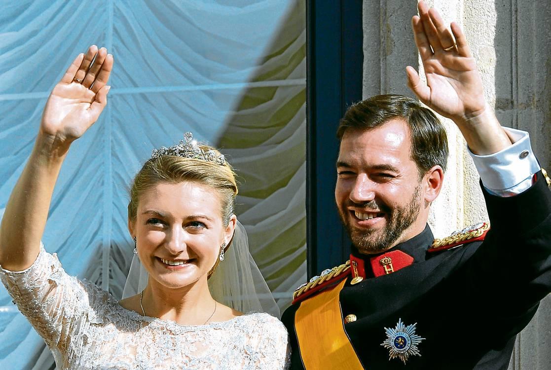 Resultado de imagen para boda de Guillermo de Luxemburgo y Stéphanie de Lannoy