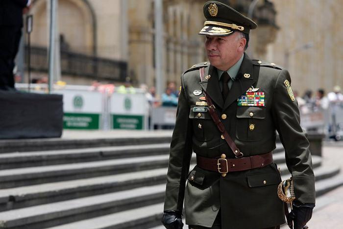 General Francisco Patiño, director general de la Policía Nacional.