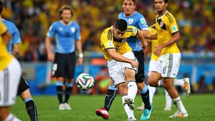 Resultado de imagen para uruguay colombia 2014 gol de james