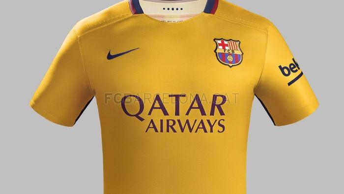 Segunda equipación del Barcelona para la temporada 2015-2016.    Tomado de  fcbarcelona.es 1577af42351