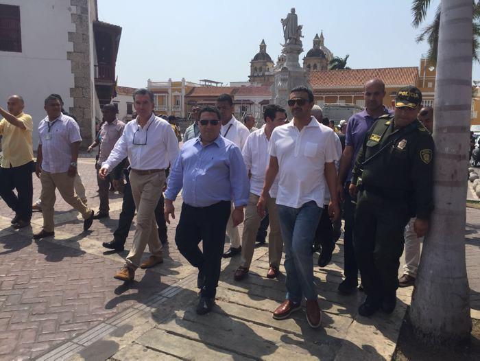 Jeque árabe se paseó por las calles de Cartagena
