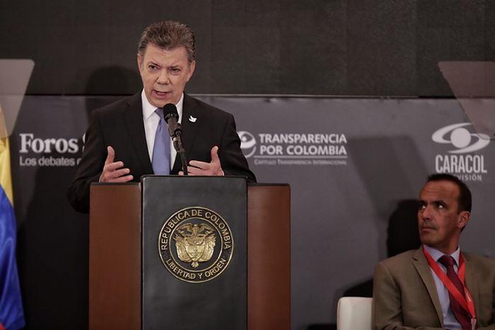 Presidente Santos anuncia nuevas medidas para enfrentar la corrupción en Colombia
