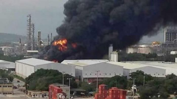 Reportan fuerte explosión en la zona industrial de Cartagena