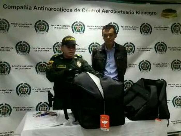Ciudadano ruso fue capturado con droga en el aeropuerto de Rionegro