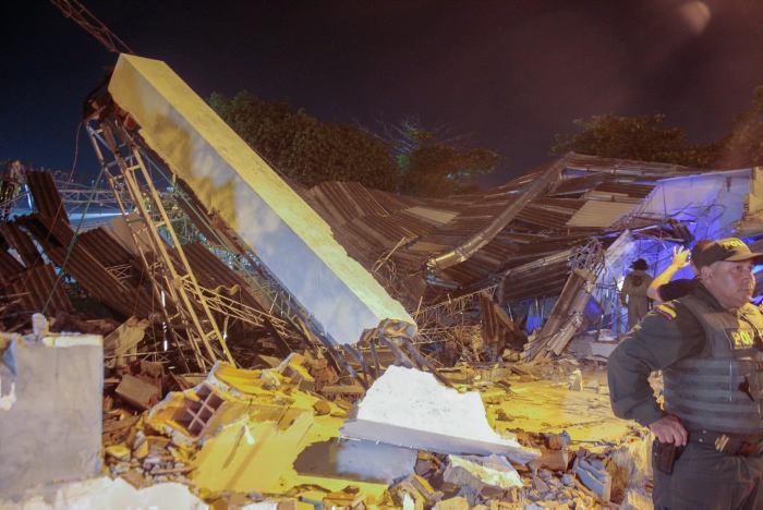 Se desploma iglesia en el barrio Martínez Martelo de Cartagena