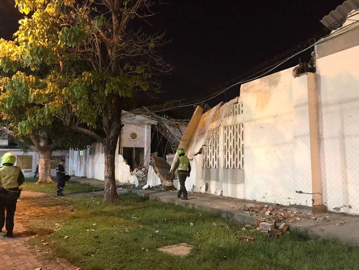 Techo de iglesia se desplomó en el barrio Martínez Martelo de Cartagena