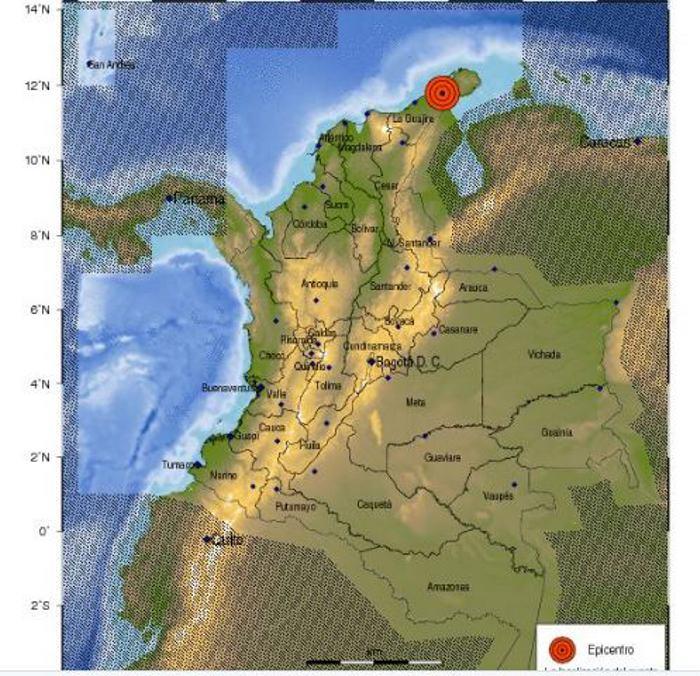 Temblor de 5.5 grados sacudió gran parte de la Costa Atlántica