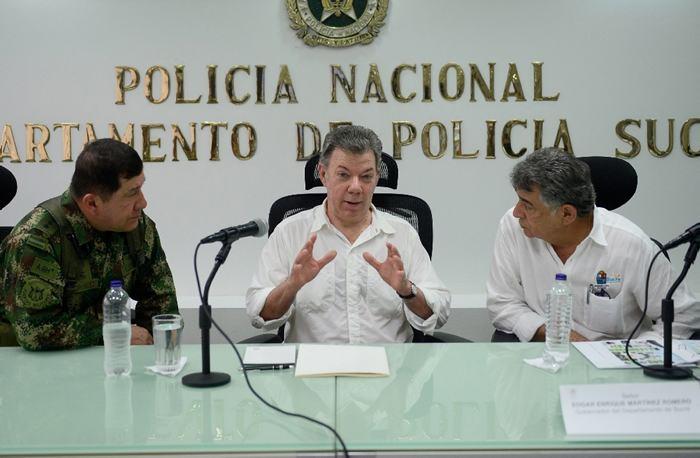 Santos dice que el Gobierno golpeará con fuerza al Clan del Golfo
