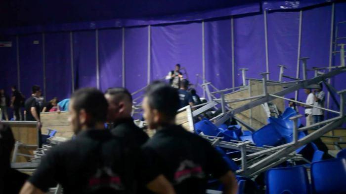 Tribuna de un circo colapsó en el municipio de Caldas