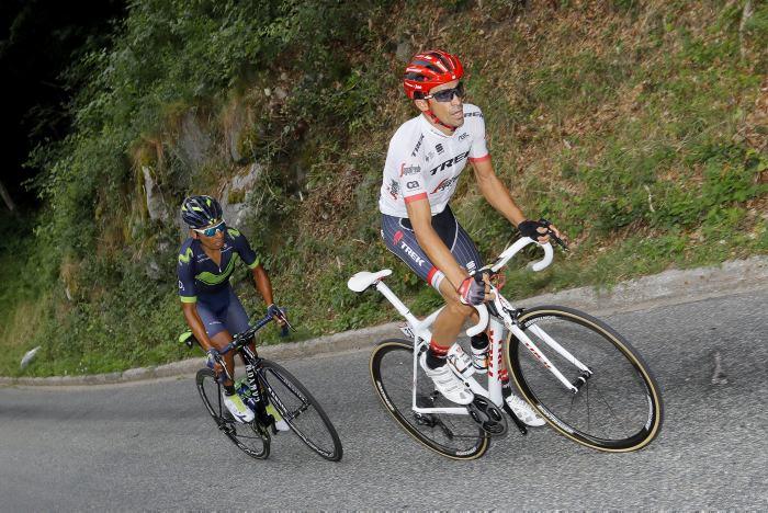 Rigoberto Urán ya corre en la contrarreloj final del Tour de Francia