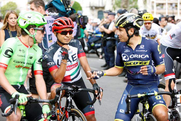 Barguil supera en el esprint a Nairo y Contador