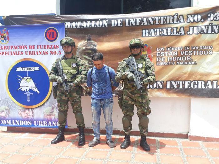 Capturan a presunto sicario del Clan del Golfo en Montería