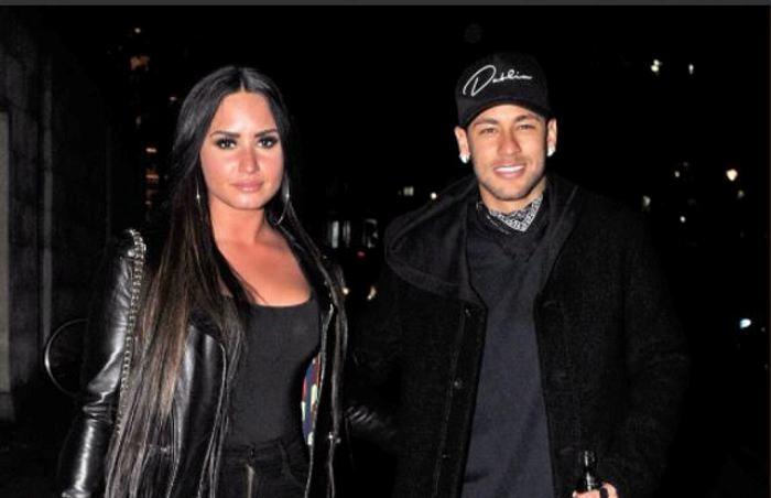 Demi Lovato y Neymar se fueron de fiesta tras el Inglaterra-Brasil