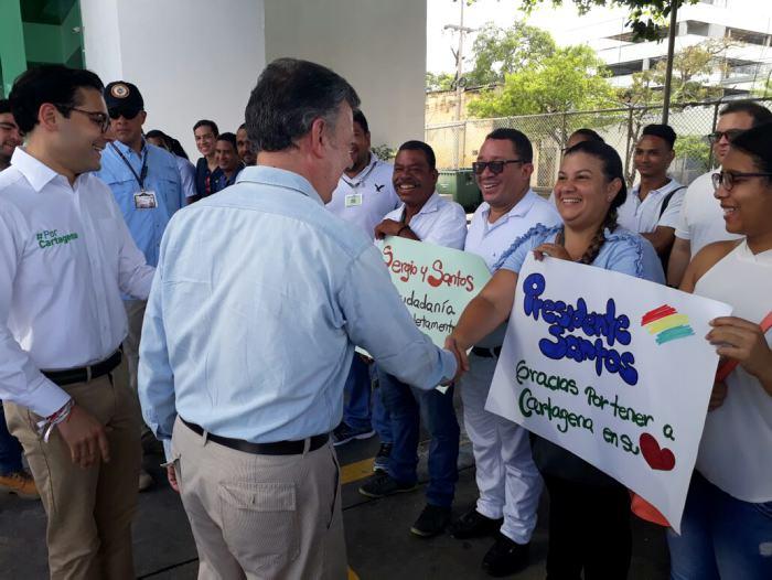 Santos instala PMU para la violencia contra la mujer en Cartagena